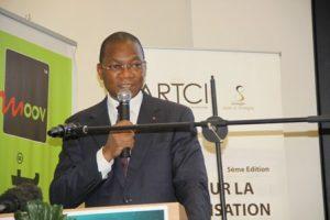 Le ministre de la Poste et des TIC, Bruno Nabagné Koné.