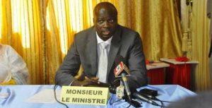 Frédéric Nikièma, le ministre de la Communication du Burkina Faso.