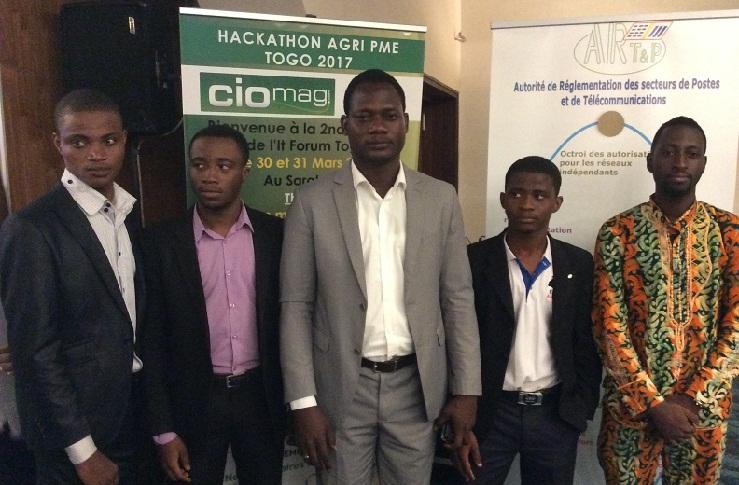 Voici l'équipe gagnante du premier Hackathon AgriPME Togo.