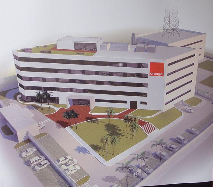 Maquette du nouveau siège Orange Cameroun. Photo: min. Poste du Cameroun
